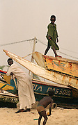 Fishing Boat Art - Dakar Beach Senegal