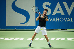 Andrea Arnaboldi (ITA) in action during 1st Semifinal match at Day 8 of ATP Challenger Zavarovalnica Sava Slovenia Open 2018, on August 10, 2018 in Sports centre, Portoroz/Portorose, Slovenia. Photo by Vid Ponikvar / Sportida