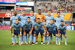 September 5, 2018 - Bronx, New York, United States - New York City FC starting XI before  a regular season match against the New England Revolution at Yankee Stadium in Bronx, NY.  New England Revolution defeats New York City FC 1 to 0 (Credit Image: © Mark Smith/ZUMA Wire)
