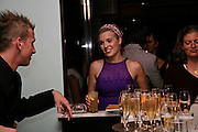 Maggie Grace.. Natalia Vodianova and Elle Macpherson host a dinner in honor of Francisco Costa (creative Director for women) and Italo Zucchelli (creative director for men)  of Calvin Klein. Locanda Locatelli, 8 Seymour St. London W1. ONE TIME USE ONLY - DO NOT ARCHIVE  © Copyright Photograph by Dafydd Jones 66 Stockwell Park Rd. London SW9 0DA Tel 020 7733 0108 www.dafjones.com
