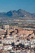 City of Alicante and Cabezon de Oro mountain, Alicante,Costa Blanca,Valencia, Spain