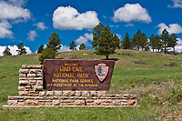 Sign at the entrance to Wind Cave National Park, South Dakota.