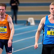 NLD/Apeldoorn/20180217 - NK Indoor Athletiek 2018, 60 meter heren, Thomas Reijnders en Wouter Brus