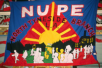 National Union of Public Employees North Tyneside branch banner ....