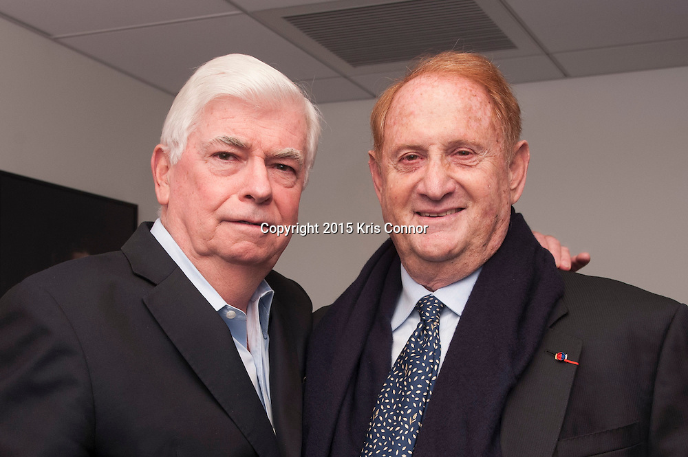 WASHINGTON, DC- OCTOBER 27: President of the MPAA Chris Dodd and Producer Mike Medavoy attend the DC premiere of Warner Bros Pictures THE 33 at the Newsuem on October 27, 2015 in Washington, DC. (Photo by Kris Connor/Warner Bros. Pictures)