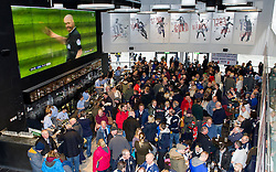 Rugby fans gather in the Sports Bar and Grill - Mandatory by-line: Paul Knight/JMP - Mobile: 07966 386802 - 31/01/2016 -  RUGBY - Ashton Gate Stadium - Bristol, England -  Bristol Rugby v Jersey - Greene King IPA Championship