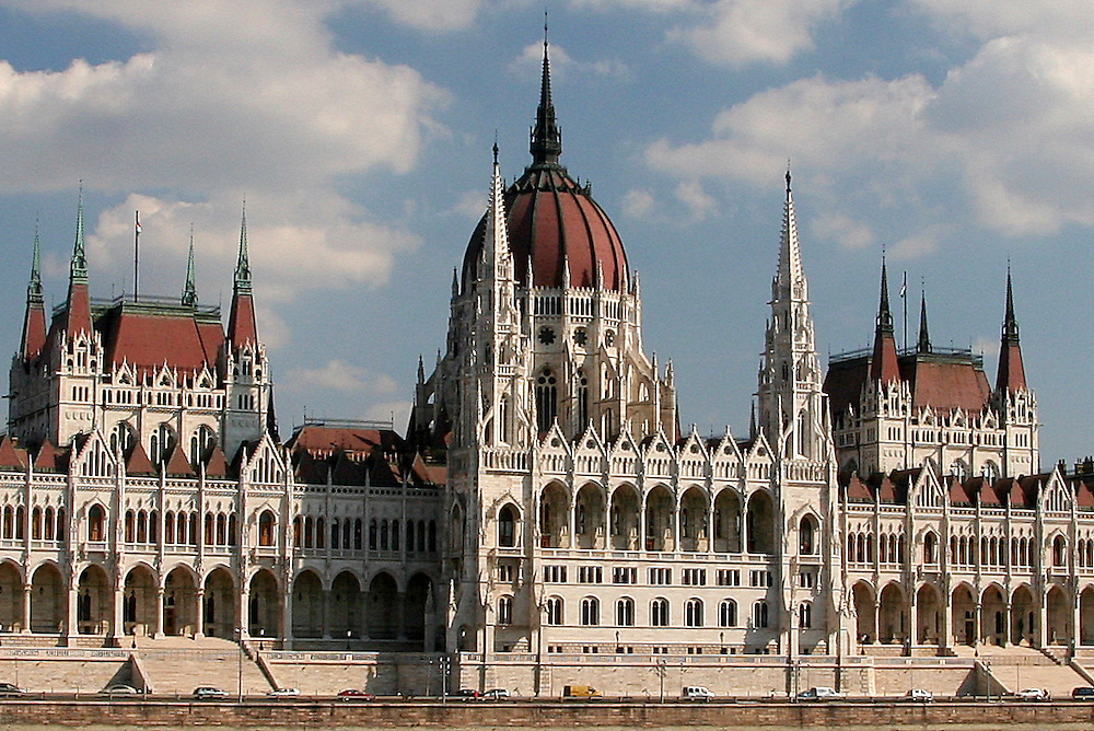 Hungarian Parliament Building (Országház), designed by  Imre Steindl in 1885, Budapest, Hungary