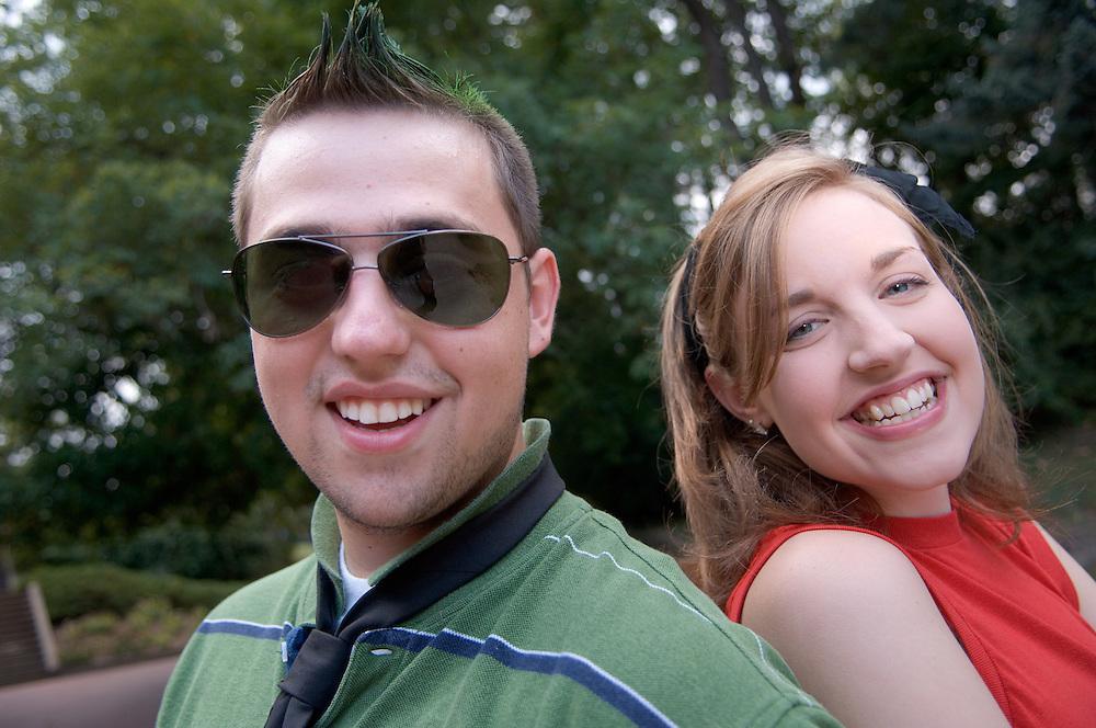 18365      Campus ...Meredith Barnett & Matt Tokarsky  on the way to HTC Rock 'n Roll Party
