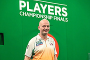 Jamie Caven after his 1st round victory over Joe Cullen during the PDC Darts Players Championship at  at Butlins Minehead, Minehead, United Kingdom on 24 November 2017. Photo by Shane Healey.