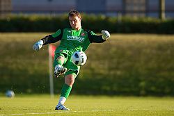 LIVERPOOL, ENGLAND - Tuesday, January 11, 2011: Sunderland's goalkeeper Trevor Carson in action against Liverpool during the FA Premiership Reserves League (Northern Division) match at the Kirkby Academy. (Pic by: David Rawcliffe/Propaganda)