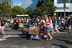 California: San Francisco Bay to Breakers annual foot race. Photo copyright Lee Foster. Photo # 31-casanf80835