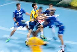 Tilen Sokolic of Koper during handball match between RK Celje Pivovarna Lasko and RD Koper 2013 of Super Cup 2016, on August 27, 2016 in SRC Marina, Portoroz / Portorose, Slovenia. Photo by Matic Klansek Velej / Sportida