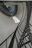 View of the spiral starircase inside the St. Augustine Lighthouse