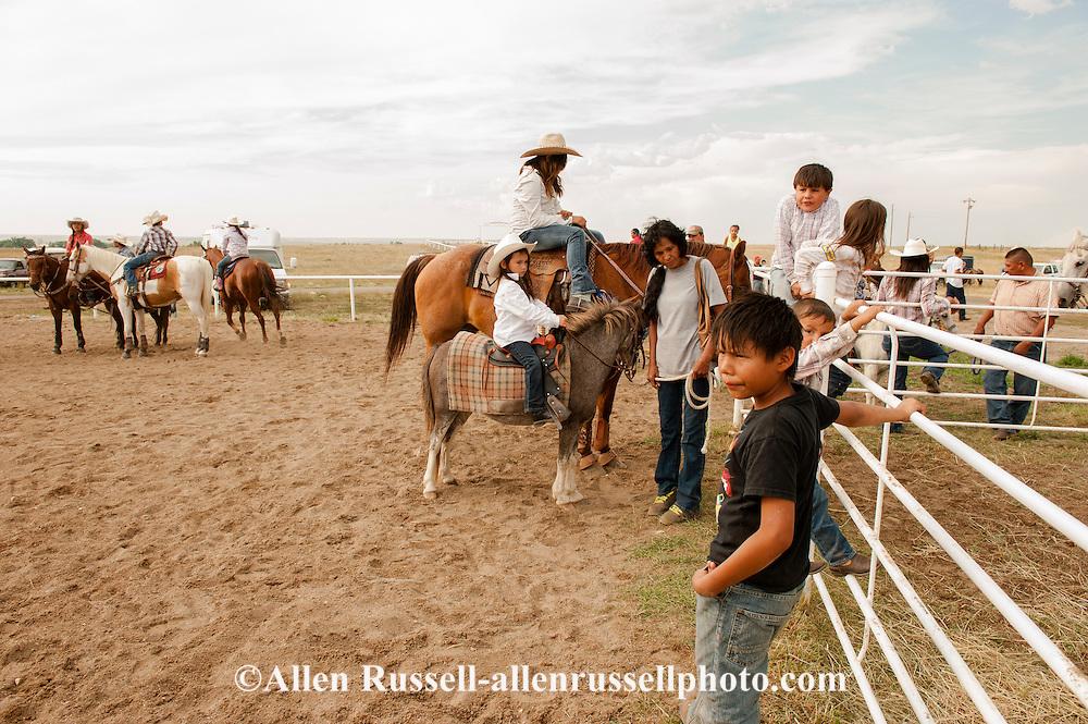 Rocky Boy Rodeo-kids-Indians-families-horses-Rocky Boy Reservation-Montana