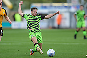 Forest Green Rovers Dayle Grubb(8) passes the ball forward during the EFL Sky Bet League 2 match between Cambridge United and Forest Green Rovers at the Cambs Glass Stadium, Cambridge, England on 7 September 2019.