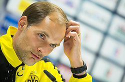 Thomas Tuchel, head coach of Borussia Dortmund  during press conference after the football match between WAC Wolfsberg (AUT) and  Borussia Dortmund (GER) in First leg of Third qualifying round of UEFA Europa League 2015/16, on July 30, 2015 in Wörthersee Stadion, Klagenfurt, Austria. Photo by Vid Ponikvar / Sportida