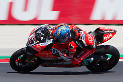 July 7, 2018 - Misano, RN, Italy - Marco Melandri of Aruba.it Racing - Ducati during race 1 of the Motul FIM Superbike Championship, Riviera di Rimini Round, at Misano World Circuit ''Marco Simoncelli'', on July 07, 2018 in Misano, Italy  (Credit Image: © Danilo Di Giovanni/NurPhoto via ZUMA Press)