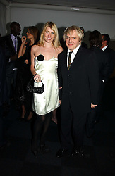 Musician NICK RHODES and model MEREDITH OSTROM  at the Fortune Forum Dinner held at Old Billingsgate, 1 Old Billingsgate Walk, 16 Lower Thames Street, London EC3R 6DX<br />