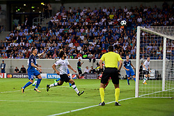 SINSHEIM, GERMANY - Tuesday, August 15, 2017: Liverpool's James Milner scores the second goal during the UEFA Champions League Play-Off 1st Leg match between TSG 1899 Hoffenheim and Liverpool at the Rhein-Neckar-Arena. (Pic by David Rawcliffe/Propaganda)