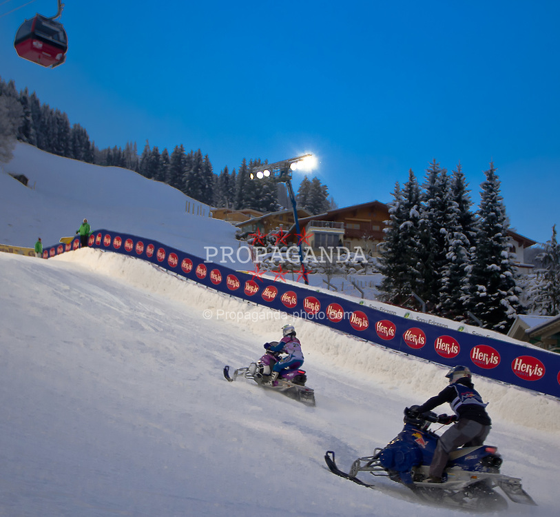 04.12.2010, Rennstrecke, Saalbach Hinterglemm, AUT, Swatch Snow Mobile 2010, im Bild Feature Snowmobile // during the Swatch Snow Mobile 2010 Event in Saalbach Hinterglemm, EXPA Pictures © 2010, PhotoCredit: EXPA/ J. Feichter