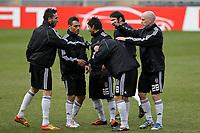 20120213: BRAGA, PORTUGAL - Besiktas JK players at the Besiktas JK training session before UEFA Europe League match against SC Braga.<br /> PHOTO: CITYFILES
