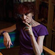 Athens, Greece, July 15, 2014. Zyranna Zateli, among the most renowned Greek writers.