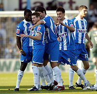 Photo: Olly Greenwood.<br />Colchester United v West Bromwich Albion. Coca Cola Championship. 20/10/2007. Colchester's Mark Yeates celebrates scoring