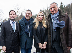 06.04.2019, Congresspark, Igls, AUT, 32. Ordentlicher Landesparteitag der FPÖ Tirol, im Bild v.l. Landesparteiobmann Markus Abwerzger, Bundesparteiobmann VK Heinz-Christian Strache, Philippa Strache, stv. Landesparteiobmann Rudi Federspiel // during the 32th Ordinary party convention of the FPÖ Tyrol at the Congresspark in Igls, Austria on 2019/04/06. EXPA Pictures © 2019, PhotoCredit: EXPA/ Johann Groder
