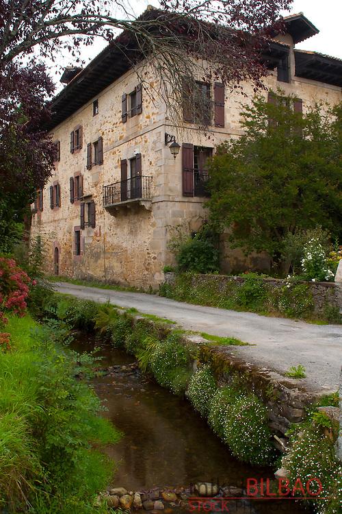 Baroja family house. Bera de Bidasoa village, Navarre, Spain
