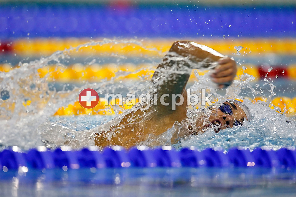 Luca MARIN of Italy competes in the men's 1500m freestyle heats on day three at the European Short-Course Swimming Championships at the Maekelaenrinne Swimming Centre in Helsinki, Finland, Saturday December 9, 2006. (Photo by Patrick B. Kraemer / MAGICPBK)