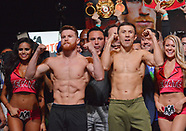 Canelo Alvarez vs Gennady Golovkin - Weigh In Ceremony - 15 September 2017