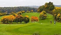 DILLENBURG (Duitsland) - Hole 17, Golf Club Dillenburg in Westerwald. COPYRIGHT KOEN SUYK