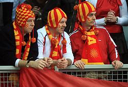 Fans of Macedonia during 21st Men's World Handball Championship preliminary Group C match between FYR Macedonia and Germany, on January 21, 2009, in Arena Varazdin, Varazdin, Croatia. (Photo by Vid Ponikvar / Sportida)