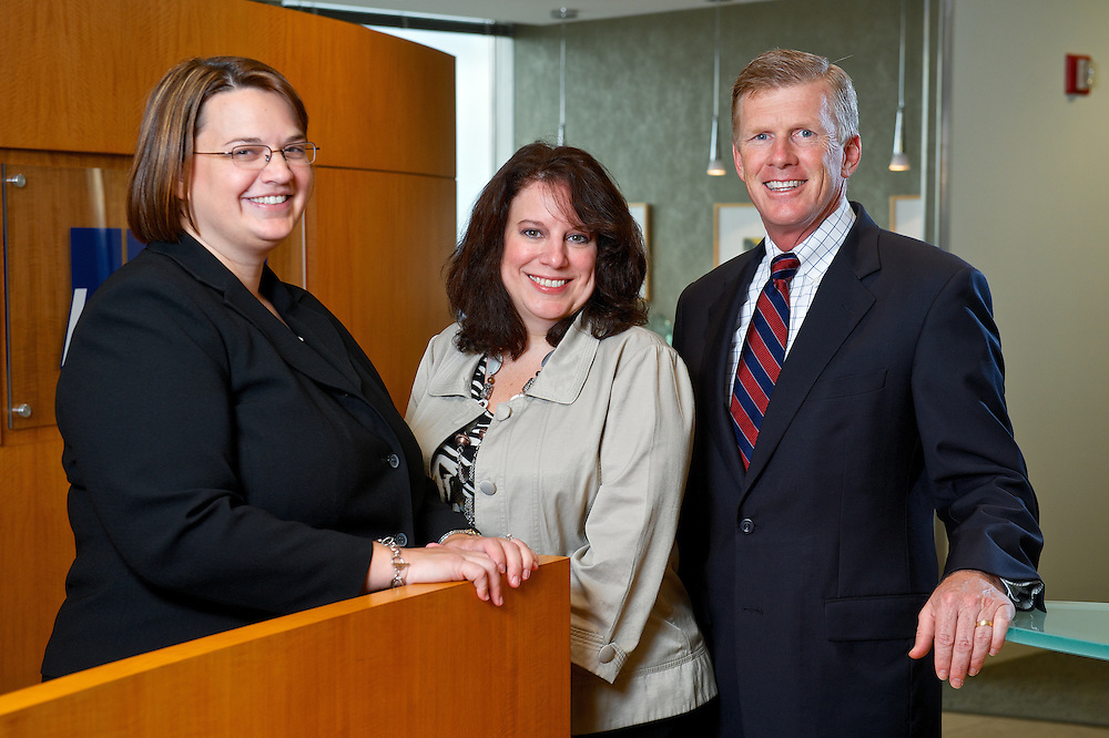 KPMG Human Resources Manager, Kim Koutris (Left), Associate Director of Operations Services, Debbie Toth (Center) and Managing Partner of Cleveland Major Market, John MacIntosh (Right).