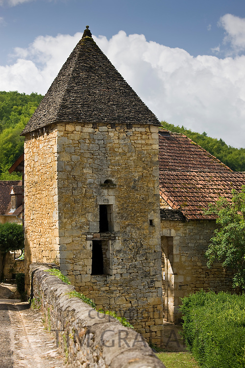 Traditional French buildings at St Amand de Coly, Dordogne, France