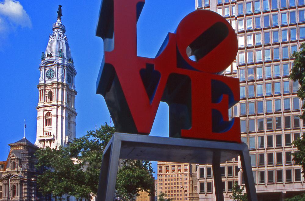 """LOVE"" sculpture, Philadelphia, PA, City Hall"