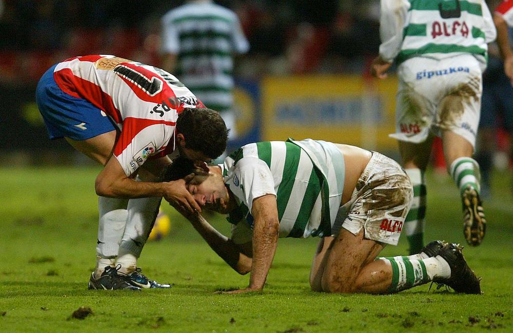 2009. January, 11th. Partido de segunda división A disputado entre el Girona F.C. como equipo local y el Eibar..COPYRIGHT: TONI VILCHES FOTOGRAFIA.