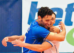 17.09.2011, Stadthalle, Wien, AUT, CEV, Europaeische Volleyball Meisterschaft 2011, Halbfinale, Italien vs Polen, im Bild Jubel Emanuele Birarelli, (ITA, #15, Middle-Blocker) und Andrea Bari, (ITA, #4, Libero 1) // during the european Volleyball Championship Semi Final Italy vs Poland, at Stadthalle, Vienna, 2011-09-17, EXPA Pictures © 2011, PhotoCredit: EXPA/ M. Gruber