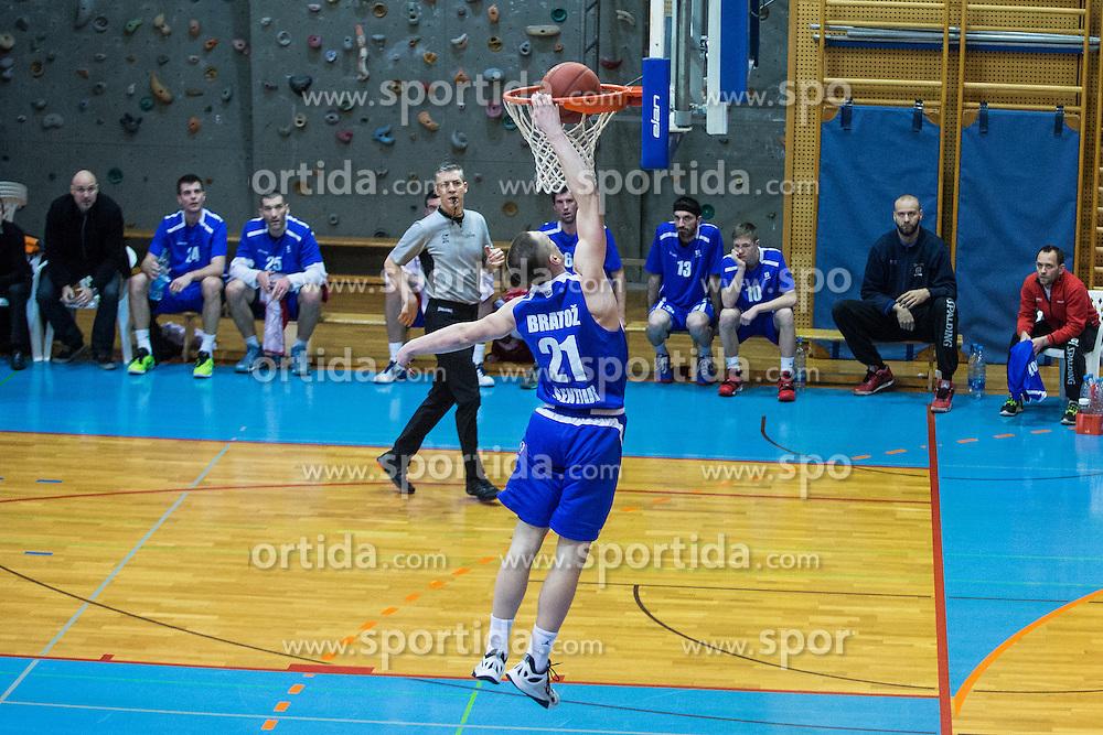 Bratoz Domen of KK Tajfun Sentjur during basketball match between KK Sencur  GGD and KK Tajfun Sentjur for Spar cup 2016, on 16th of February , 2016 in Sencur, Sencur Sports hall, Slovenia. Photo by Grega Valancic / Sportida.com