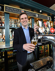 Pictured: Daniel Johnson visited the Hermitage Bar in Edinburgh to launch his Bill.<br /> <br /> Labour MSP Daniel Johnson has launched a members bill at the Scottish Parliament designed to give workers protection from threats and assault, which campaigners say is a particularly common problem in the hospitality industry.<br /> <br /> © Dave Johnston / EEm
