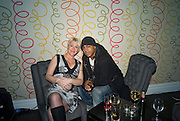 JO O'MEARA AND BRADLEY MCINTOSH FROM S CLUB 7, Bingo Lotto launch party. Soho Hotel Richmond Mews. London. 29 February 2008.  *** Local Caption *** -DO NOT ARCHIVE-© Copyright Photograph by Dafydd Jones. 248 Clapham Rd. London SW9 0PZ. Tel 0207 820 0771. www.dafjones.com.