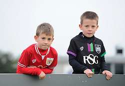 Ashton Gate yesterday, Stoke Gifford Stadium today for these football fans - Mandatory by-line: Paul Knight/JMP - Mobile: 07966 386802 - 04/10/2015 -  FOOTBALL - Stoke Gifford Stadium - Bristol, England -  Bristol Academy Women v Liverpool Ladies FC - FA Women's Super League