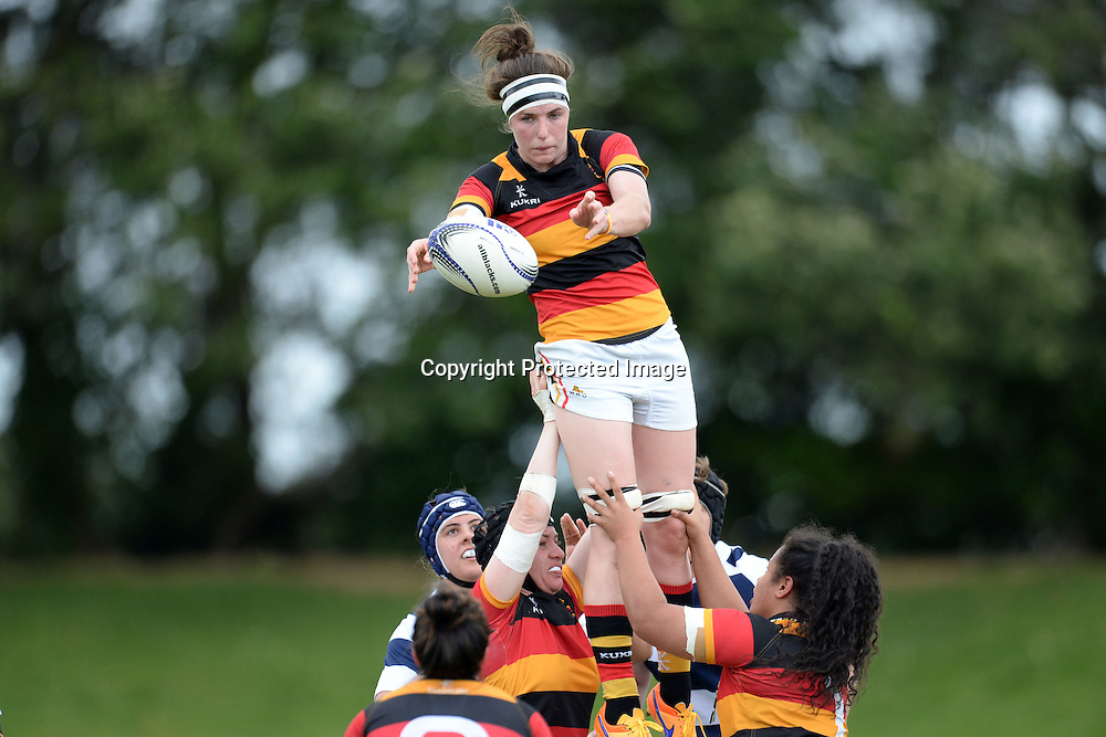 Waikato's Racqual Anderson in action during the Women's Rugby NPC Semi Final, Auckland Storm v Waikato. Auckland, New Zealand on Saturday 10 October 2015. Copyright Photo: Raghavan Venugopal / www.photosport.nz