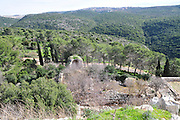 Israel, Western Galilee, The remains of the 12th century Crusader fortress of Yehiam (Gidin) The view from the fortress
