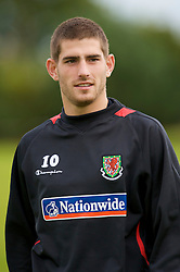 WREXHAM, WALES - Monday, August 18, 2008: Wales' Ched Evans training at Colliers Park ahead of their UEFA European U21 Championship Group 10 Qualifying match against Romania. (Photo by David Rawcliffe/Propaganda)
