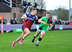Tom Pincus of Bristol Bears United charges over the try line - Mandatory by-line: Paul Knight/JMP - 02/12/2018 - RUGBY - Clifton RFC - Bristol, England - Bristol Bears United v Harlequins - Premiership Rugby Shield