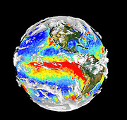 ocean surface is covered by the El-Nino sea surface temperature field.