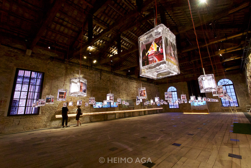 "Venice, Italy - 15th Architecture Biennale 2016, ""Reporting from the Front"".<br /> Arsenale.<br /> Singapore. Space to imagine, room for everyone."
