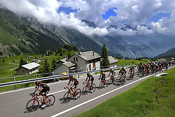 June 15, 2017 - Locarno / La Punt, Suisse - Illustration picture of the peloton Landscape Bunch Postcard Post card Paysage Carte Postale landschap briefkaart , VAN AVERMAET Greg (BEL) Rider of BMC Racing Team during stage 6 of the Tour de Suisse cycling race, a stage of 166 kms between Locarno and La Punt on June 15, 2017 in La Punt, Switserland, 15/06/2017 (Credit Image: © Panoramic via ZUMA Press)