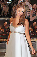 Una Healy The Twilight Saga: Breaking Dawn Part 1 UK Premiere, Westfield Startford City, London, UK. 16 November 2011. Contact rich@pictured.com +44 07941 079620 (Picture by Richard Goldschmidt)
